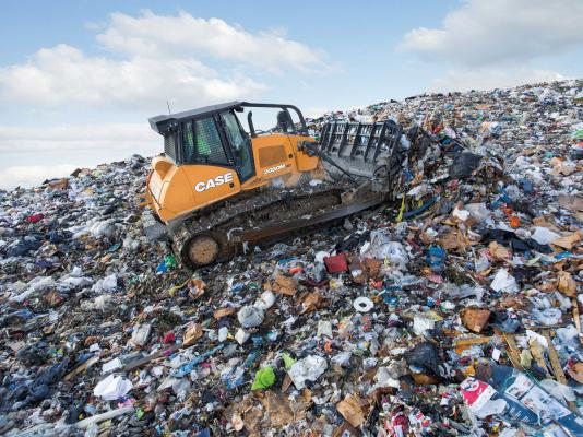 Case 214-horsepower 2050M dozer has been configured for landfill applications
