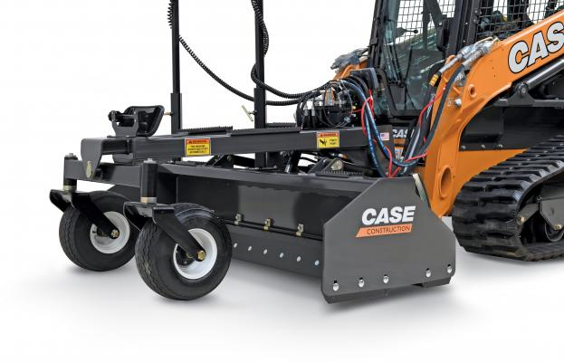 Laser Grading Box is precision-enabled attachment for Case skid steers and CTLs designed for fine-grading applications requiring finish grades to within 1/10th of an inch.