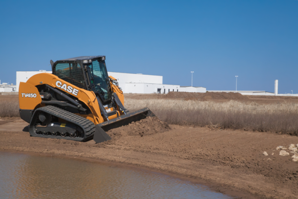 Case TV450 compact track loader has a rated operating capacity of 4,500 pounds