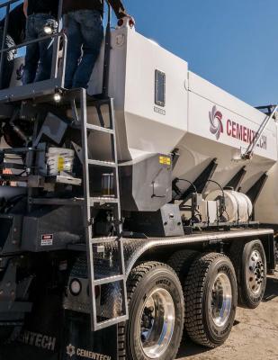 Cemen Tech C60 volumetric concrete mixer includes enhanced ACCU-POUR capabilities