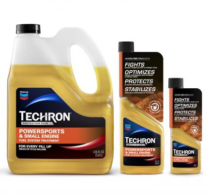Techron Protection Plus Powersports & Small Engine Fuel System Treatment is a small-engine additive engineered for use in everything from gasoline-powered ATVs and UTVs to a wide range of portable outdoor power equipment in construction, lawn care, agriculture, and forestry industries.