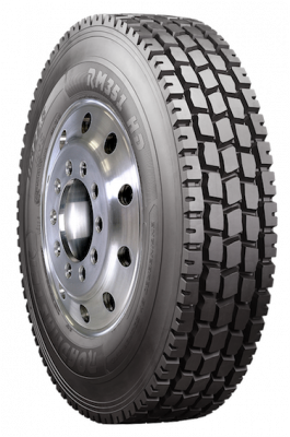 Roadmaster RM351 HD tire is engineered for mixed-service applications such as on a mixer or dump truck, and is designed for both on- and off-road driving.