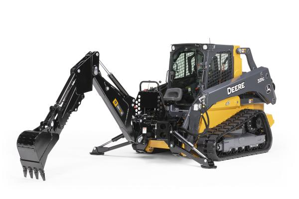 The BH9B, BH10B, and BH11B backhoe attachments are designed for operators handling light construction, agricultural, landscaping, or utility work with the company's G-Series skid steers and CTLs.