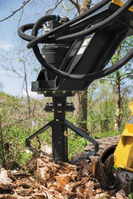 The SS30 Stump Shredder removes stumps from 8 to 28 inches in one pass, and larger stumps are removed with multiple bores.