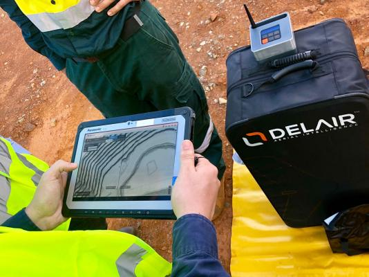 The Delair Aerial Intelligence platform for converting drone-based images into actionable business insights is a cloud-based solution designed to provide a complete integrated and easy-to-use workflow to manage, analyze, and share data, streamlining the process for unlocking the true potential of aerial surveying.