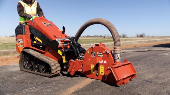 """The new MT9 micro-trencher attachment from Ditch Witch, is designed, says the company, """"to improve productivity and to reduce the cost-per-foot on small fiber job sites."""""""