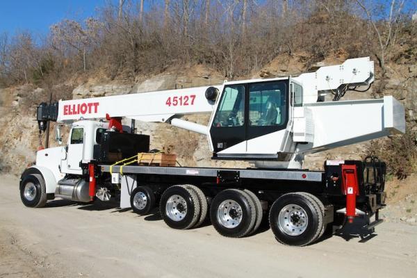 Elliott 45127R Boom Truck has a 45-ton rated capacity