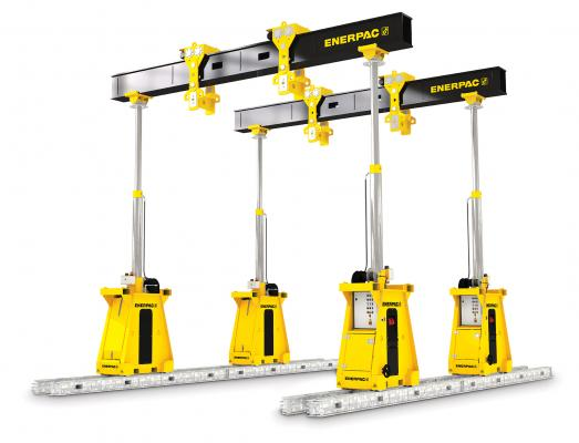 Enerpac SL300 hydraulic gantry joins the SL series of telescoping hydraulic gantries.