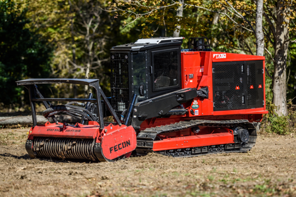 Fecon FTX150 mulching tractor operates with 3.8 psi of ground pressure