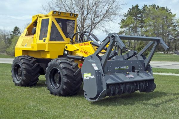Geo-Boy Brush Cutter Tractor Uses Multiple Configurations