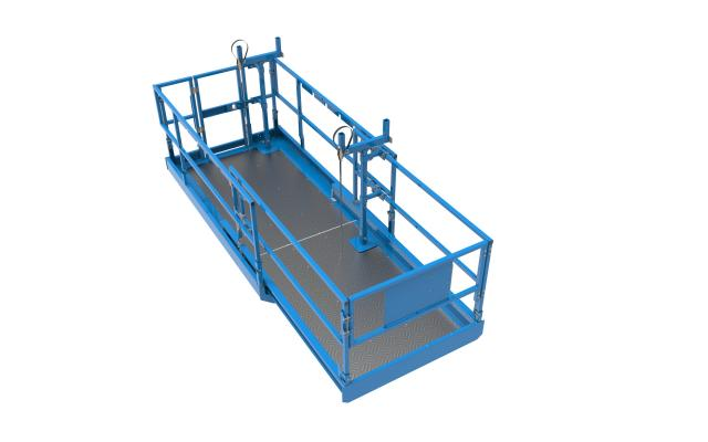 Approved for use in ANSI and CSA markets, the Lift Tools Material Carrier attachment offers Genie rough-terrain scissor lift operators a solution to carry materials to job sites.