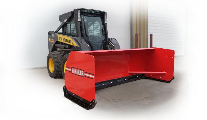 The 3600 Series Skid Steer Snow Pushers are available in 96- and 120-inch widths and feature a rubber cutting edge to clean paved surfaces.