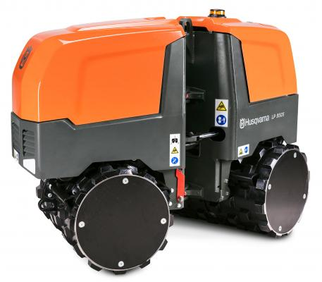 Husqvarna LP 9505 trench compactor weighs 3,693 pounds
