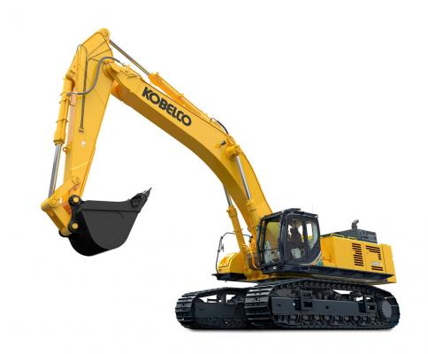 KOBELCO SK850LC-10 excavator has an operating weight of 185,700 pounds