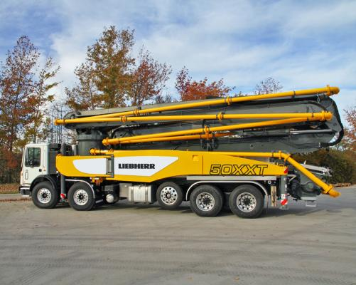 Liebherr 50 M5 XXT extends the range of truck-mounted concrete pumps