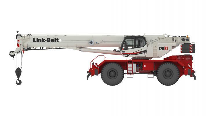 Link-Belt Cranes 120RT rough-terrain crane is a 120-ton unit with a six-section boom