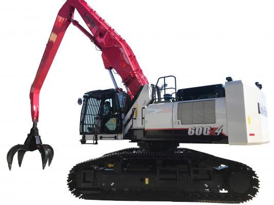 Link-Belt 600 X4 is built specifically for material handling and demolition