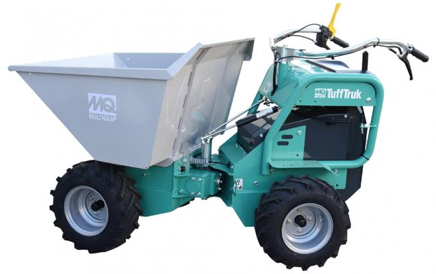 MQ Whiteman TuffTruk features four-wheel drive and a patented articulated design.