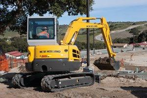 New Holland E55Bx Compact Excavator | Construction Equipment