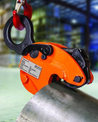"""Model TLC Curved Surface Lifting Clamp is a vertical lifting clamp incorporating a """"Lock Open"""", """"Lock Closed"""" feature that facilitates attaching and removing the clamp from the curved plate/pipe."""