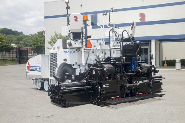 The smallest model in the Roadtec line, the RP-170e has the power for versatile paving