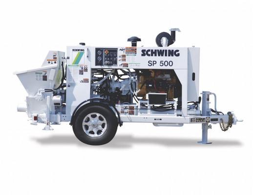 Schwing SP 500 Stationary Concrete Pump | Construction Equipment