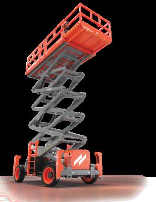 Skyjack SJ9253 scissor lift has a working height of 59 feet.