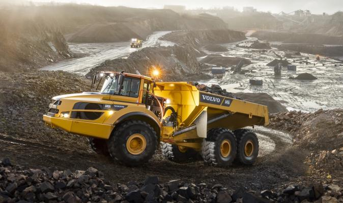 Volvo A45G articulated dump truck expands the G Series and has a 45-ton capacity.