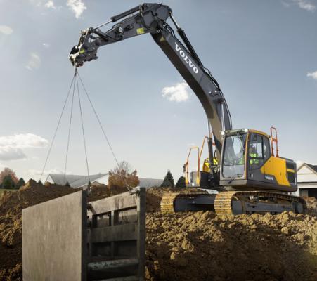 Volvo EC200E excavator is in the 20 ton class