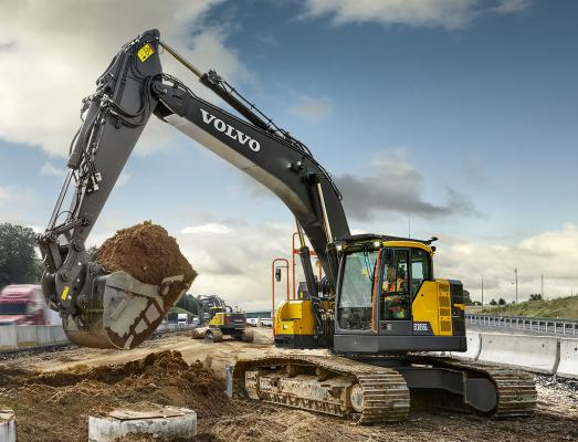 Volvo ECR355E excavator is a new size class for the range.