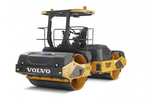 Volvo DD120C compactor has an operating weight of 27,700 pounds.