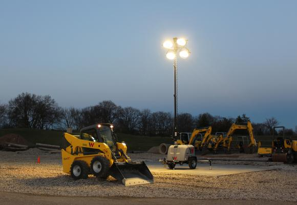 Wacker Neuson LTV6 and LTV8 light towers have 45-gallon fuel tanks