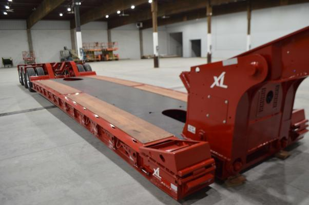 XL Specialized HDG trailer has been redesigned with a loaded deck height of 15 inches