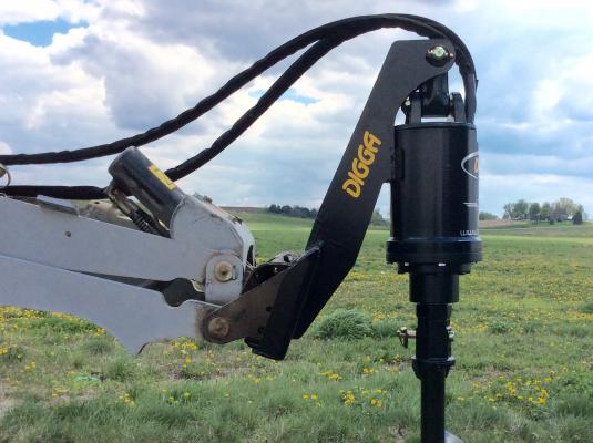 Digga Mini Loader Extension Mounts Provide Extra Reach for Augers