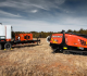 The JT20XP horizontal directional drill is paired with an XP44 mixing system.