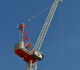 Terex CTL 272-18 luffing jib tower crane has a 200-foot maximum jib length