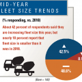 About 40% of respondents are increasing fleet size.