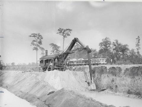 Back Action Hoe is shown working at Bartow Phosphate Co.