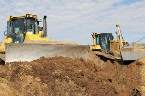 Fleet Master Branch Civil uses dual dozers for two different approaches to grade control.