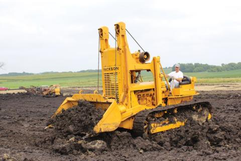 Cat D-6 tracked tractor with a Trackson T-6 Traxcavator