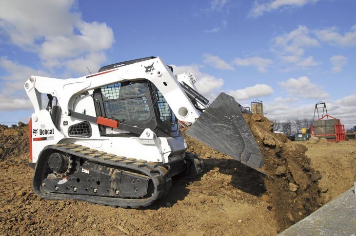 Bobcat machine working on site.