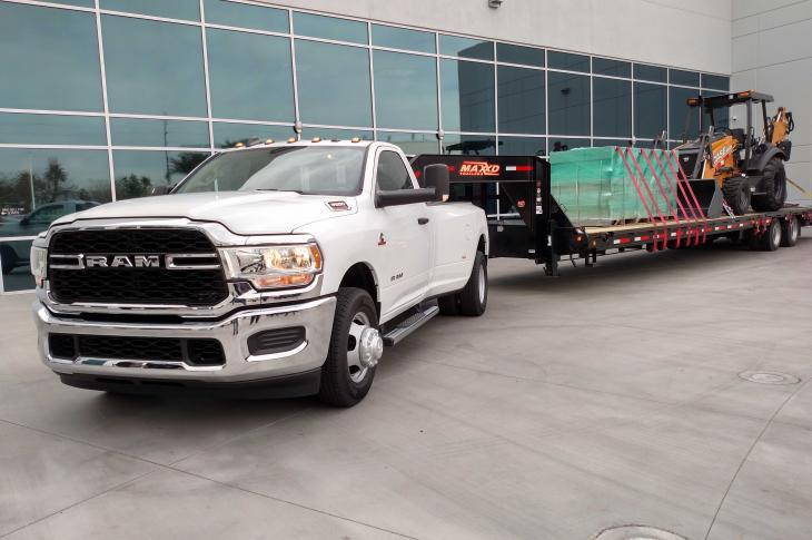 Top tow rating for Ram 3500s like this one is 35,100 pounds