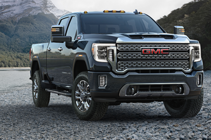GMC 2020 Sierra HD pickup truck has a longer wheelbase