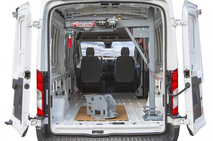 Venco Venturo Van Crane Has 1,000-pound Capacity at Max Reach