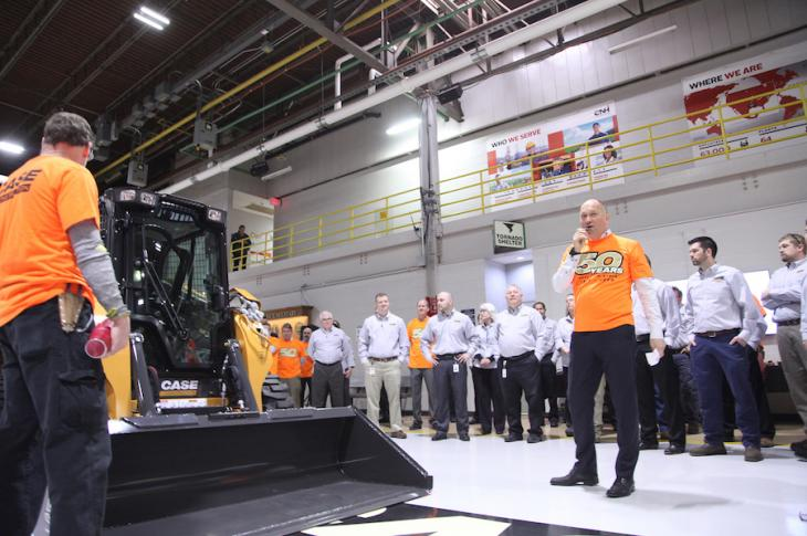 Case celebrated 50 years of skid steer manufacturing with a ceremony on April 3 at its Wichita, Kansas, plant.