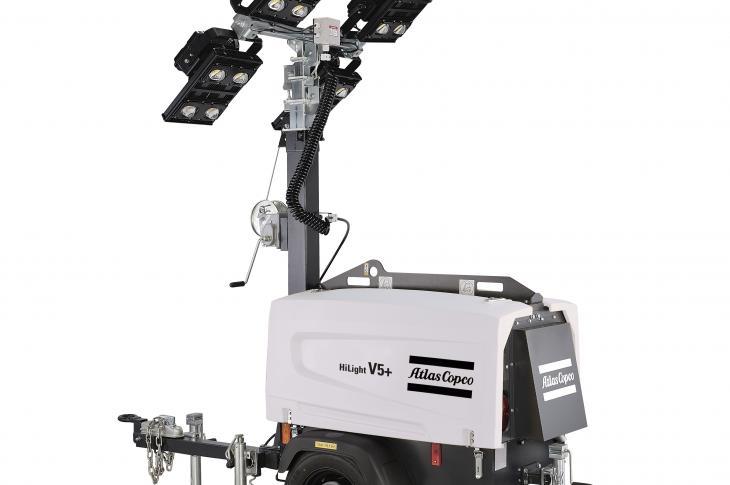 Atlas Copco HiLight V4 light tower is lightweight, compact