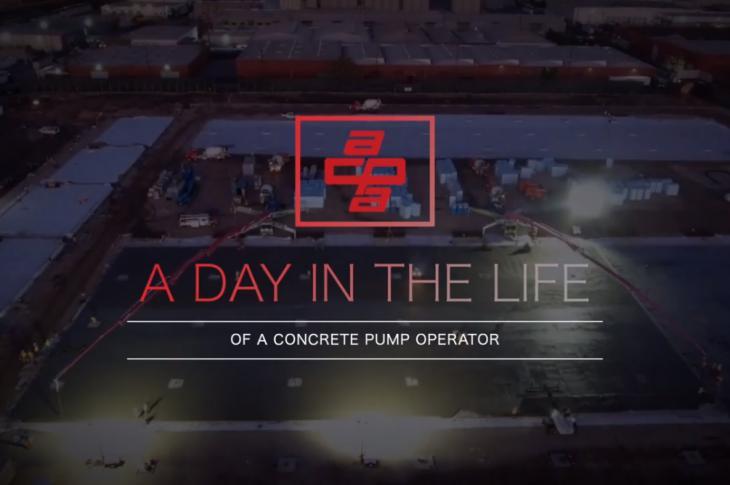ACPA video follows a concrete pump operator through his day.