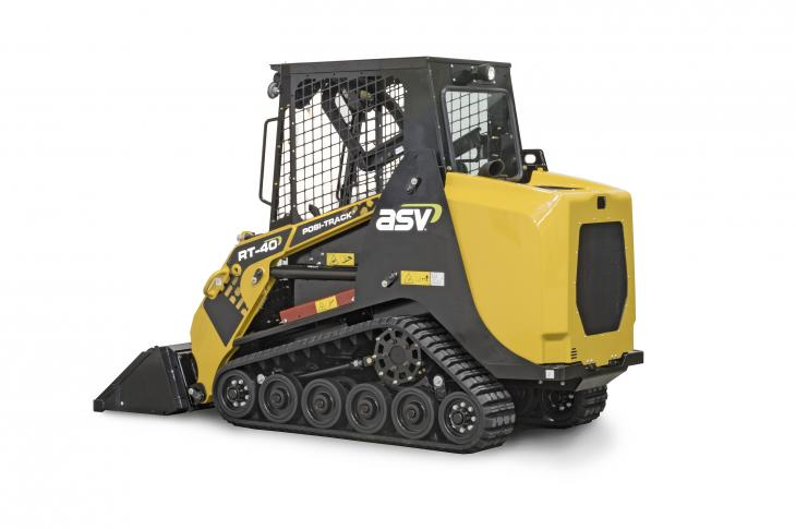 ASV RT-40 Posi-Track compact track loader is 48.3 inches wide across the tracks