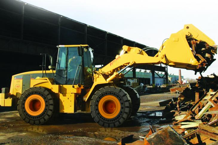 The Galaxy LHD 500 Severe Duty Solid (SDS) tire was engineered for extreme working environments.