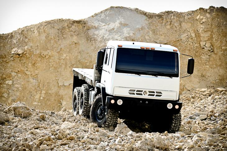 Acela Monterra 4x4 and 6x6 trucks are from the U.S. Army Family of Medium Tactical Vehicles